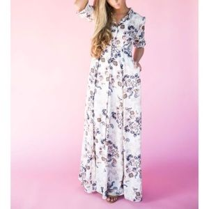 Jessakae Button down maxi dress